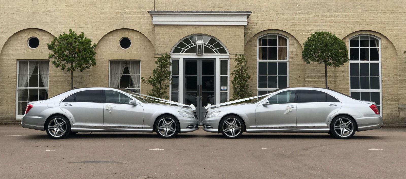 Two Claydon Executive Travel wedding cars
